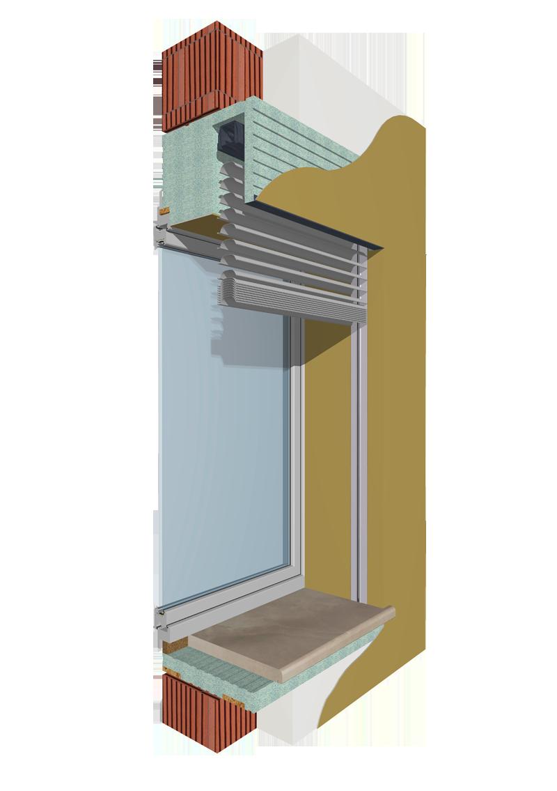 Monoblocchi termoisolanti per l 39 isolamento delle finestre - Particolare costruttivo finestra ...